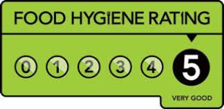 Food hygiene rating is 5/5 very good