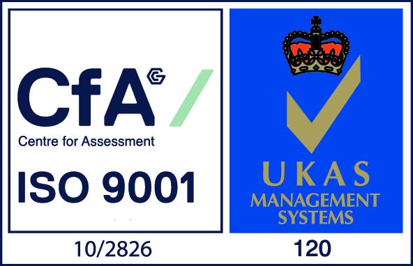 Logo for ISO 9001 accreditation