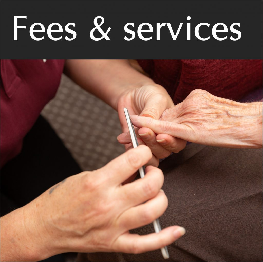Fees and services
